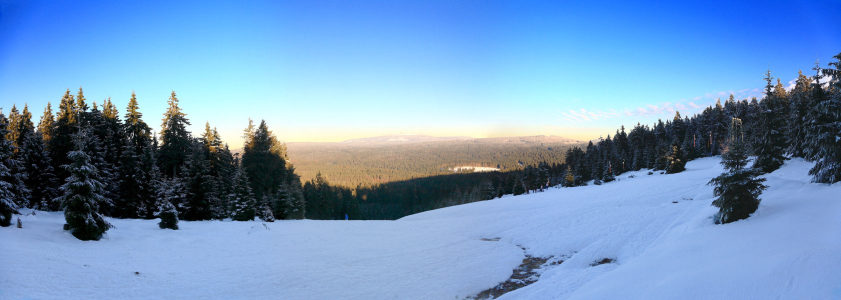 Winterpanorama mit Brockenblick